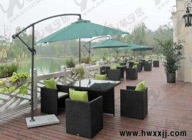 阳台桌椅休闲椅套件仿藤椅茶几五件套藤编庭院