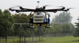 成都喷洒农药遥控无人飞机