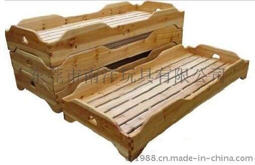 实木高边儿童木制床