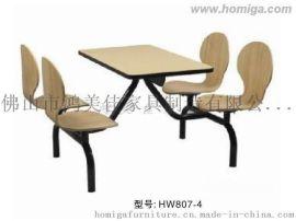 美食城常用弯木餐桌椅,广东鸿美佳供应热销中的美食城常用弯木餐桌椅