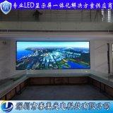 深圳泰美廠家定製城市規劃館室內P2.5全綵led電視大螢幕
