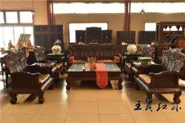 老料红酸枝沙发做工精细耐用坚固山东王义红木古典家具