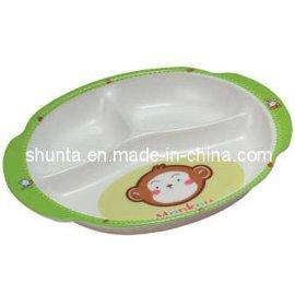 美耐皿儿童三格餐盘(密胺/科学瓷/仿瓷分格盘)