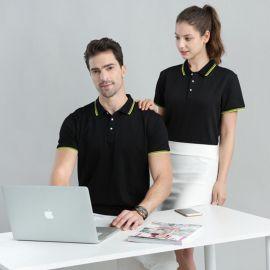 夏季短袖工作服团体T恤厂服夏装男女翻领POLO衫半袖工衣印字LOGO