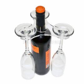 厂家定制酒杯架倒挂亚克力高脚杯支架简约透明红酒杯架批发
