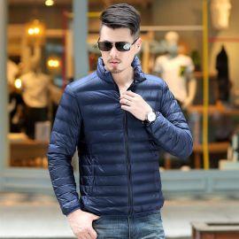 羽绒服男冬季2019高品质白鸭绒羽绒服定做印logo潮流时尚男士帅气