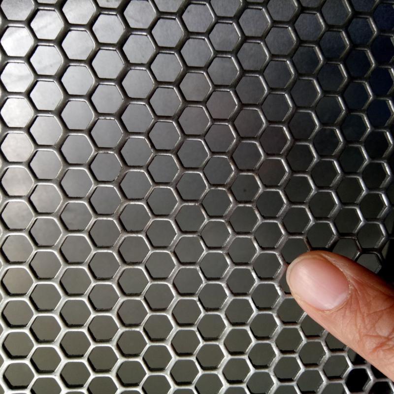 衝孔網深加工 六角形音響外殼消音散熱衝孔板 河北安平專業衝孔