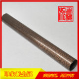 304拉丝红铜亮光不锈钢管厂家定制