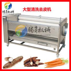 全自动多功能毛刷清洗机 电动洗鱼机 喷淋洗鱼去鱼鳞机现货供应