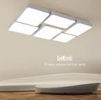 現代簡約組合大氣客廳吸頂燈 鐵藝 亞克力創意led變光燈具長方形