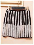 條紋珠子重工亮片包臀半身短裙