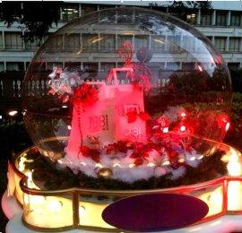 圣诞主题亚克力空心球 深圳专业生产厂家有机玻璃水晶球