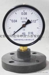 耐震不锈钢隔膜压力表型号,接液材质