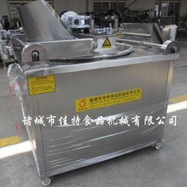 糕点油水混合油炸机 电加热自动沥油油炸机