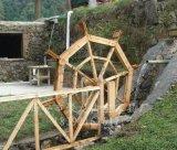 西安景观水车,防腐木水车,脚踏式水车,室内水车