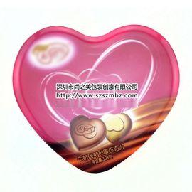 心形巧克力铁盒定制就到尚之美铁盒包装