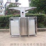 公共环卫垃圾桶不锈钢垃圾分类桶小区固定式果皮桶