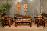 老船木沙發椅子組合客廳沙發茶幾實木現代中式家具