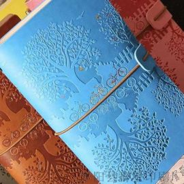 彩凸工艺手账旅行本笔记本子日记复古记事本