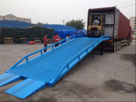广州南沙区集装箱卸货平台/集装箱登车桥