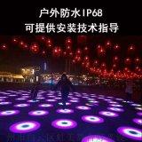 LED圆形感应地板砖 酒吧舞厅发光感应地板砖