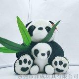 玩具公仔 母子熊貓毛絨玩具定製