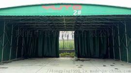 折叠帐篷移动推拉雨棚活动伸缩遮阳蓬