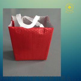 生产定制加厚气泡保温隔热手提袋,小气泡铝箔手提袋