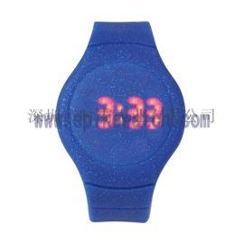 手表工廠推出新款時尚閃粉LED手表