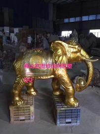 大型玻璃鋼動物大象雕塑,玻璃鋼雕塑廠家