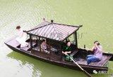 中式手劃木船烏篷搖櫓觀光船廠家直銷可攝影拍照