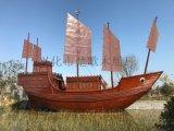 户外大型景观船厂家 海边装饰海盗船 公园装饰木船