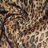 秋冬羽绒服棉服里料面料 涤塔夫环保印花布 豹纹花形