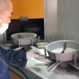 盘体圆柱体酒瓶高压锅工件,连续转盘式自动喷砂机