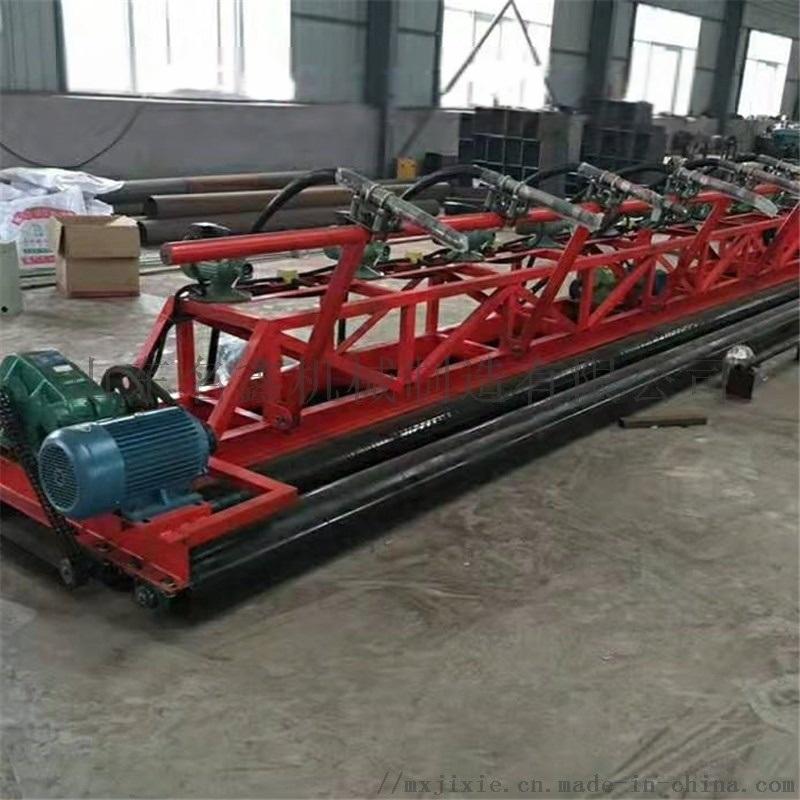 汽油柴油电动振动梁铺平机 混凝土三滚轴摊铺机