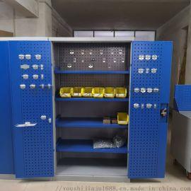 双开门置物柜多功能零件柜重型五金工具柜