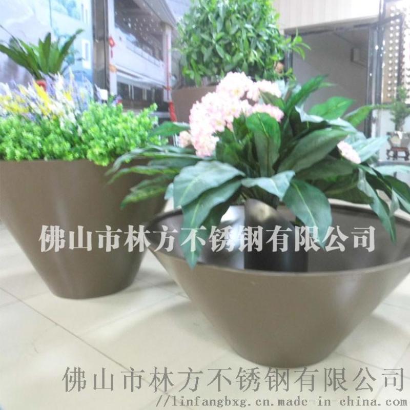 不鏽鋼廠家 藝術鐳射切割製造不鏽鋼花盆 鏡面花盆
