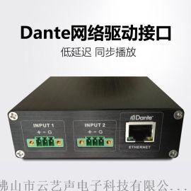 Dante网络音频传输 数字音频传输 模拟转数字/数字转模拟A/D, D/A