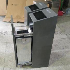 云南昆明方形室内不锈钢果皮箱垃圾桶制造商