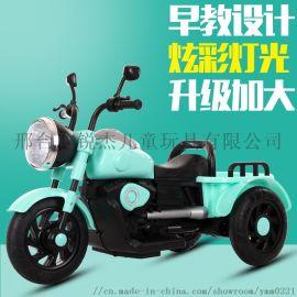 新款儿童电动摩托车三轮脚踏宝宝脚踏车
