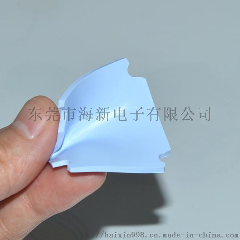 CPU软性防火阻燃绝缘蓝色硅胶垫片高导热硅胶垫片