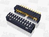 PCB连接器2.0mm 简易牛角 莫仕加高 SMT