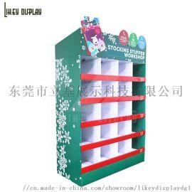 小饰品纸质展示架 节日促销纸货架 商场零食纸陈列架