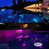 庭院广场通道光纤地埋灯七彩变色防水泳池光纤灯天花桑拿房满天星