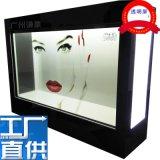 55寸46液晶透明屏廣告機展示櫃55寸液晶透明拼接屏透明觸摸櫥窗