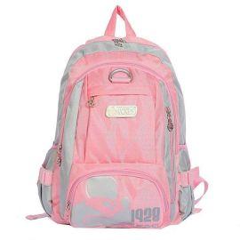 粉红色双肩学生书包