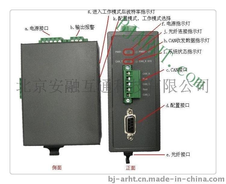 北京CAN总线光纤转换器,CAN光端机