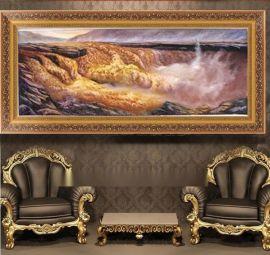 手绘风景油画批发 黄河油画HH-1 南京手工油画