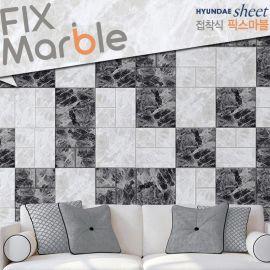 韩国进口3D立体大理石纹墙贴仿真砖瓷砖贴环保保温隔音防发霉壁纸