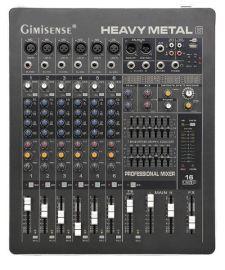 【聚美声】HM6-8路带MP3效果器 单声道4段均衡优质模拟调音台